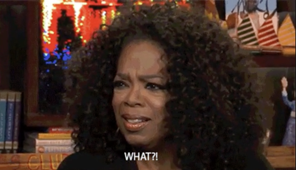 """Oprah looking appalled on """"Watch What Happens Live with Andy Cohen"""""""