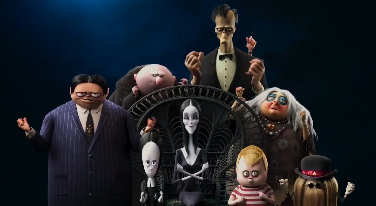 The entire Addams Family
