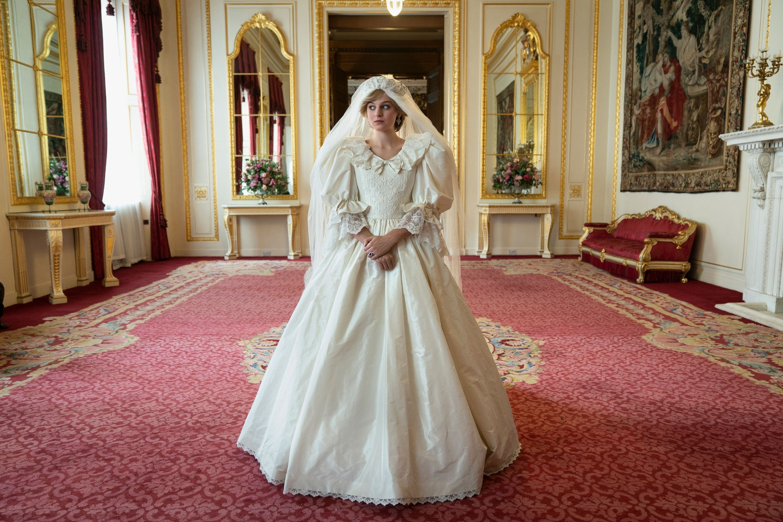 Princess Diana's wedding dress on The Crown