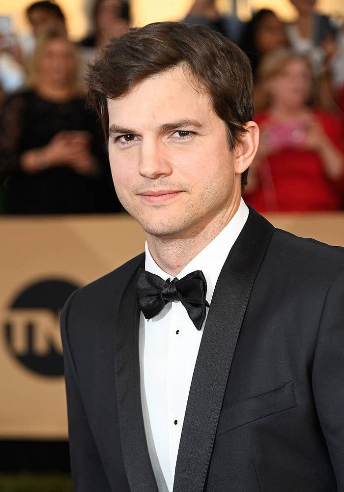 Ashton Kutcher attends The 23rd Annual Screen Actors Guild Awards