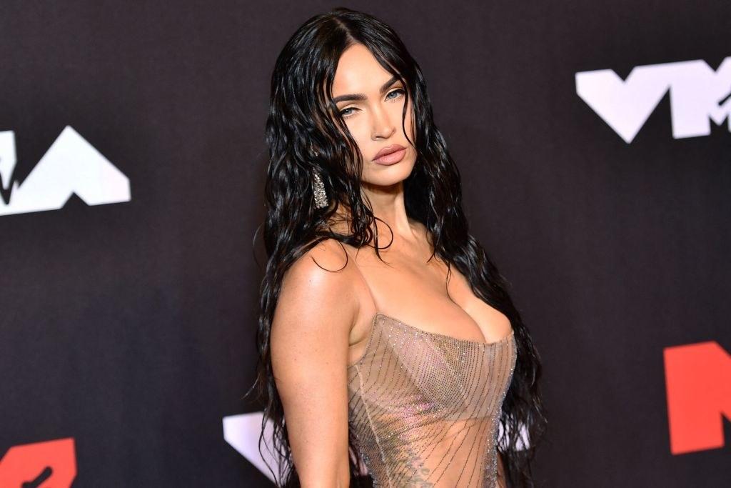 Megan Fox arrives for the 2021 MTV Video Music Awards