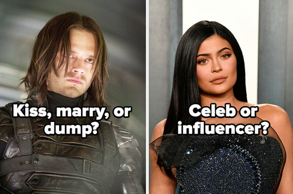 Kiss, marry, or dump Bucky and celeb or influencer Kylie jenner