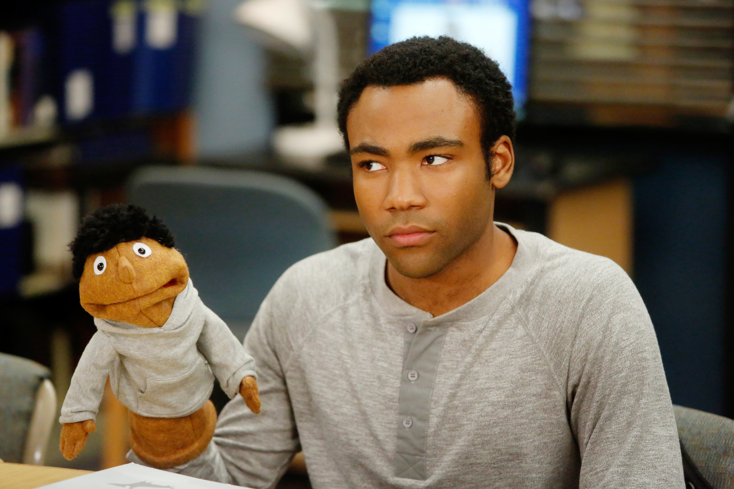 Troy with his puppet