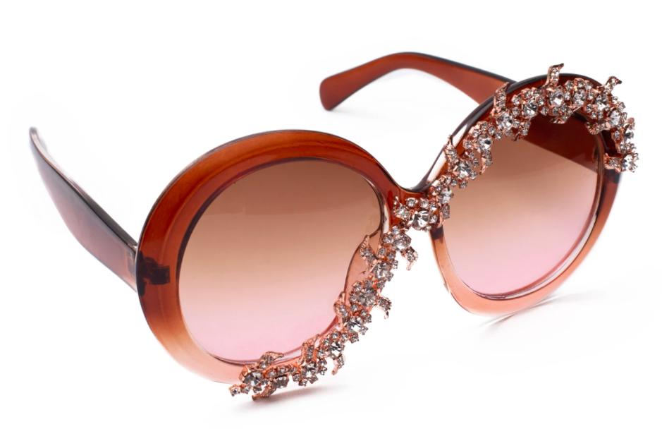 The City of Lights sunglasses in champagne glitz