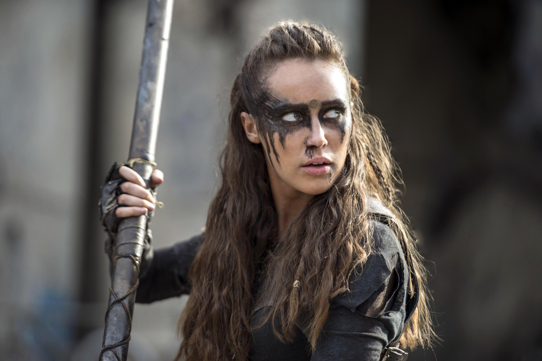 Lexa with a spear