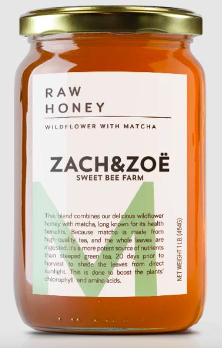 The jar of Matcha Honey