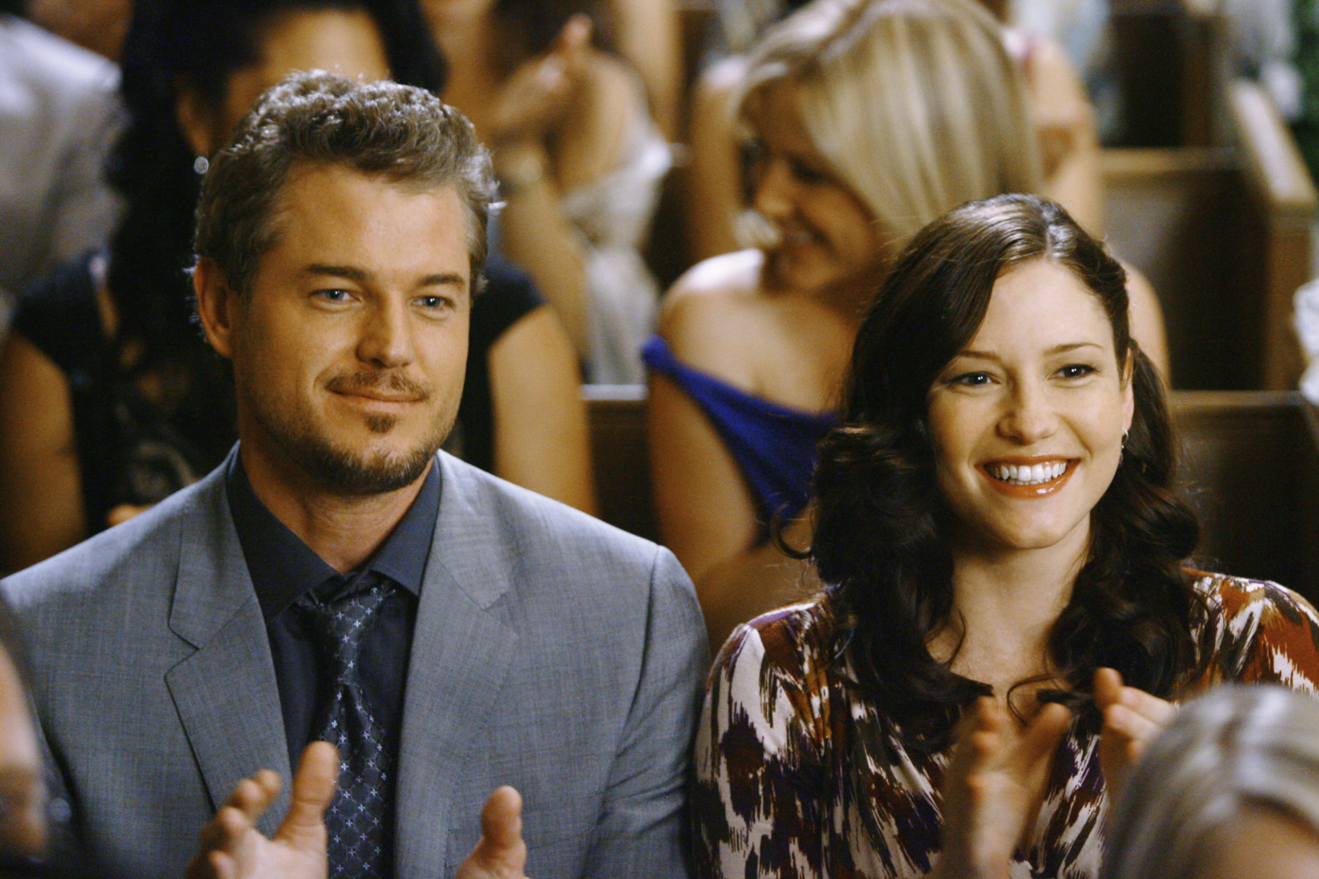 Lexie and Mark clapping
