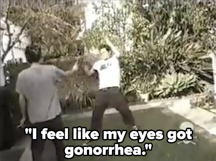 Knoxville says he feels like my eyes got gonorrhea following being sprayed with pepper spray