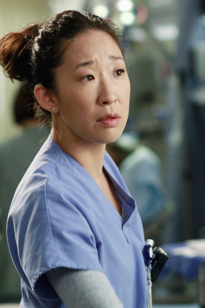 Cristina in scrubs