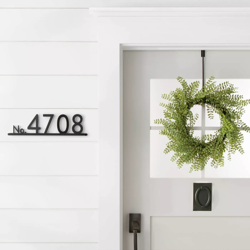 The house numbers