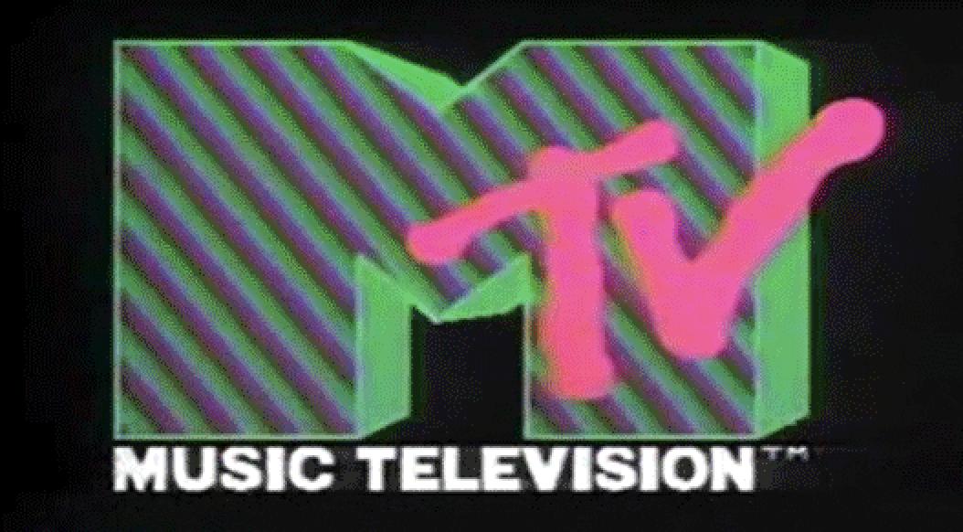 a retro MTV logo