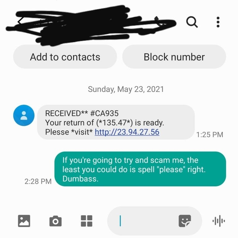scammer mispelling please
