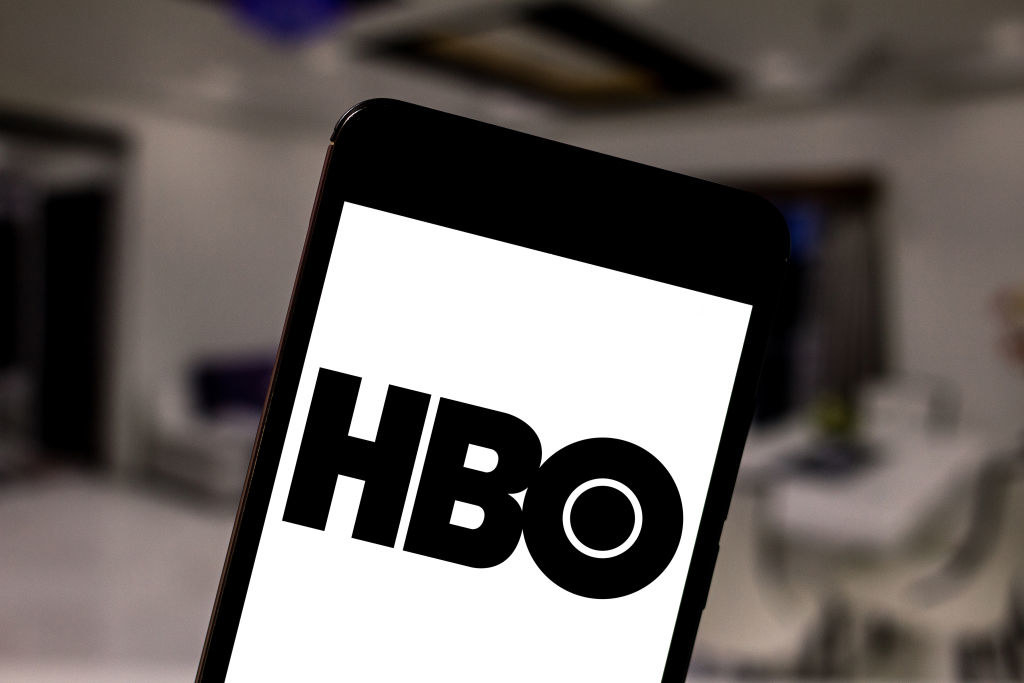 The HBO logo on a smartphone