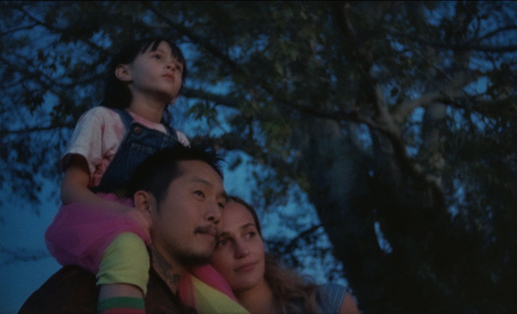 Antonio, Kathy, and Jessie watching the sunset