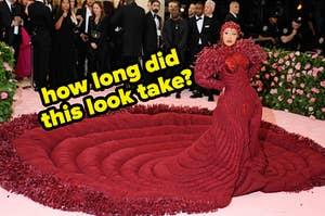 how long did cardi's look take?