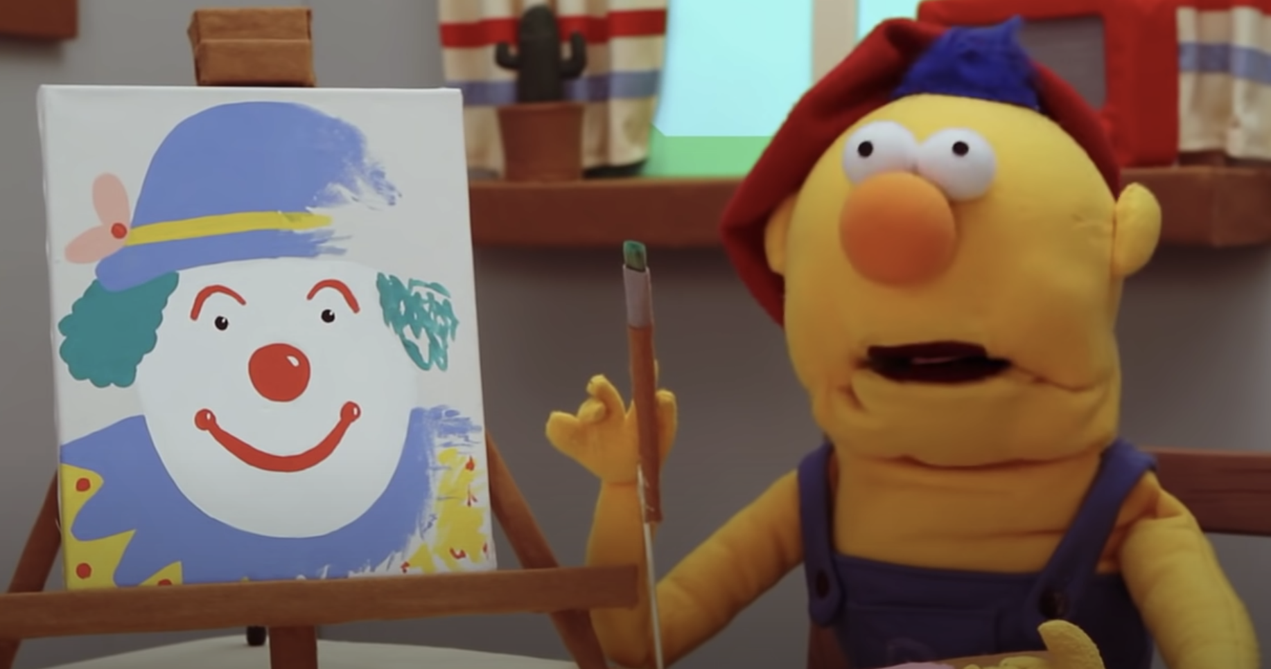 the yellow puppet from the short