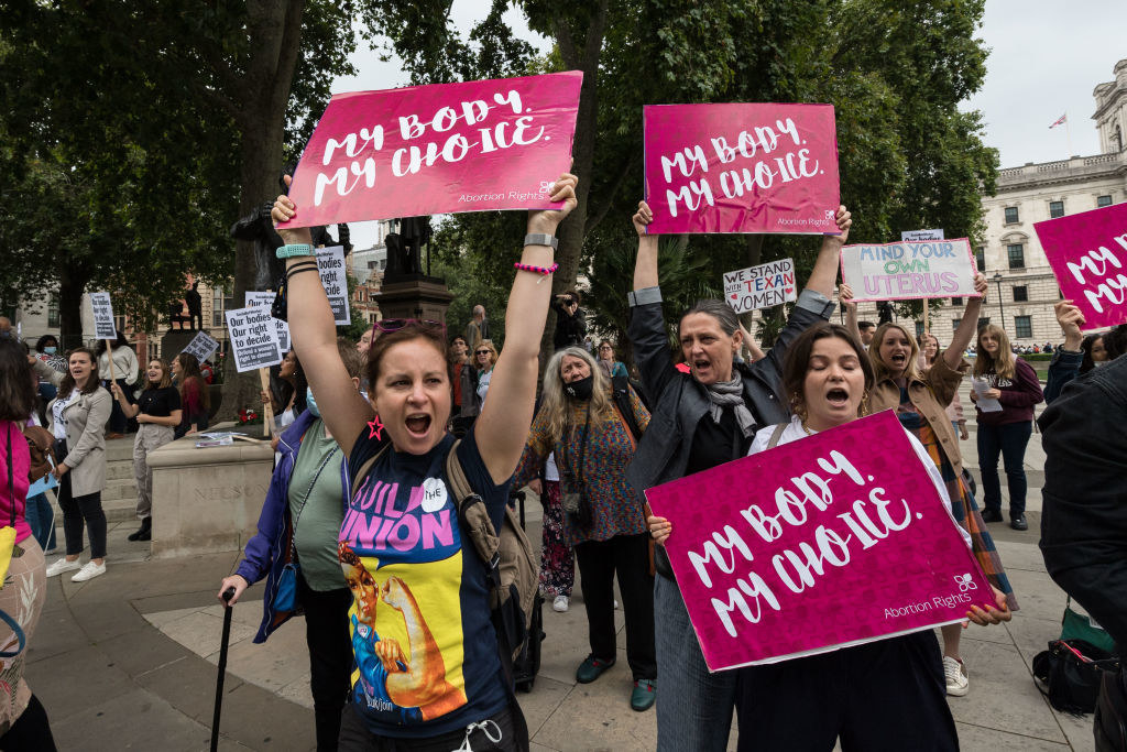 protest for support for abortion rights