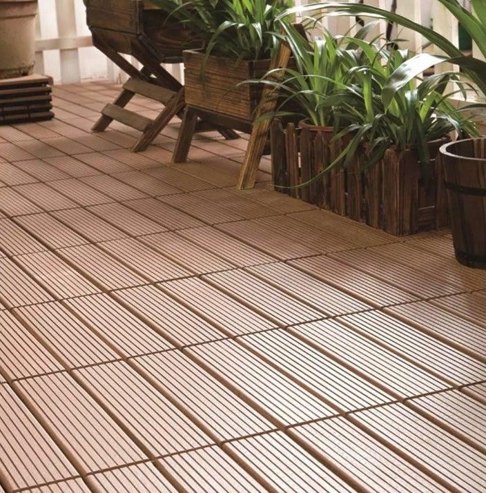 The deck tiles