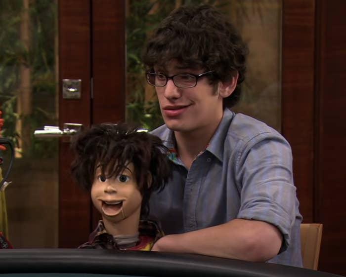 Robbie with his dummy Rex