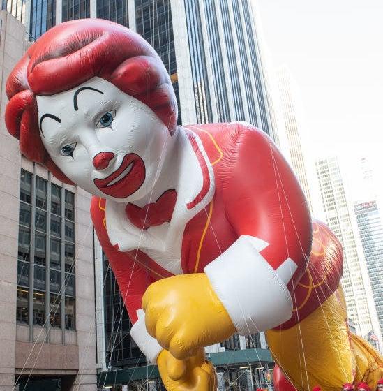giant Ronald McDonald balloon