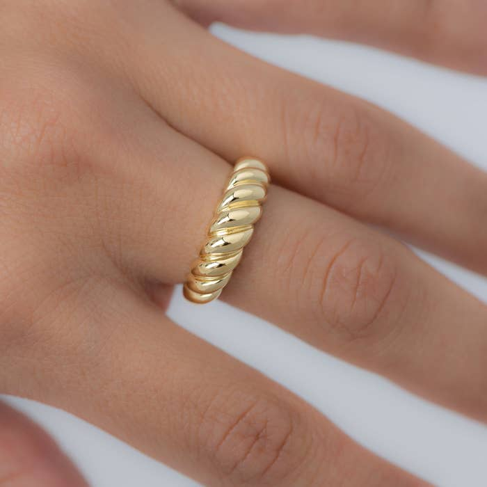 The ring on a model's hand