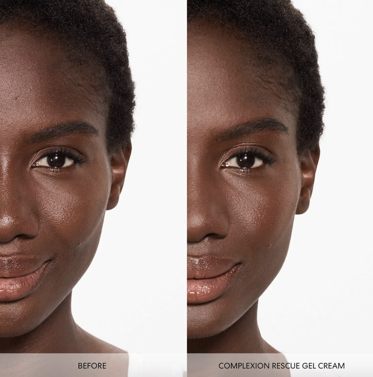 model using the tinted gel cream