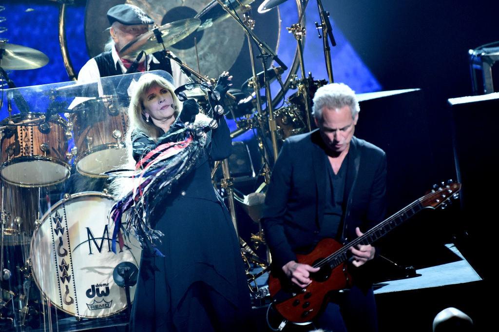 Fleetwood Mac performing at the Grammys