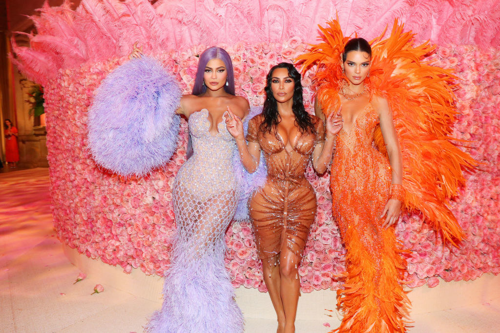 Kylie Jenner, Kim Kardashian West, and Kendall Jenner attend The 2019 Met Gala Celebrating Camp: Notes on Fashion