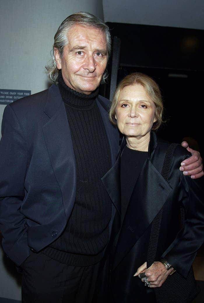 David with his arm around Gloria