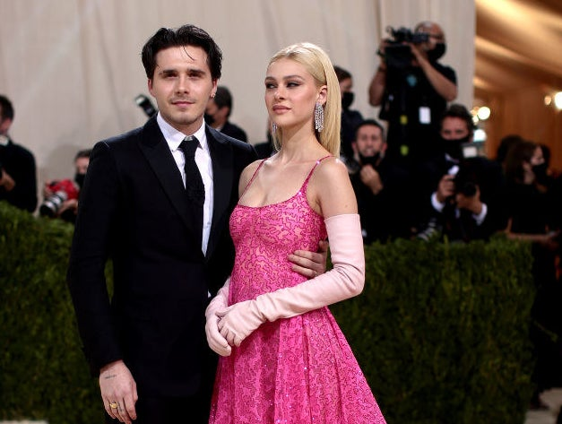 Brooklyn Beckham and Nicola Peltz attend The 2021 Met Gala Celebrating In America: A Lexicon Of Fashion