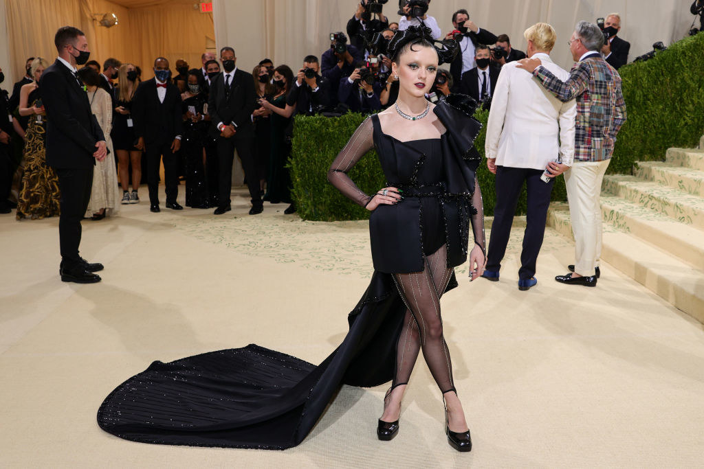 Maisie Williams attends The 2021 Met Gala Celebrating In America: A Lexicon Of Fashion
