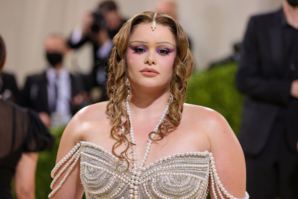 Barbie Ferreira attends The 2021 Met Gala Celebrating In America: A Lexicon Of Fashion