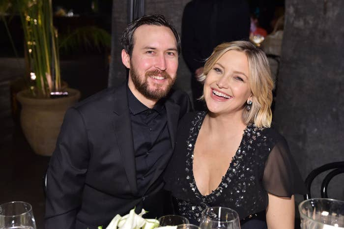 Danny Fujikawa (L) and Kate Hudson attend Michael Kors Dinner to celebrate Kate Hudson and The World Food Programme