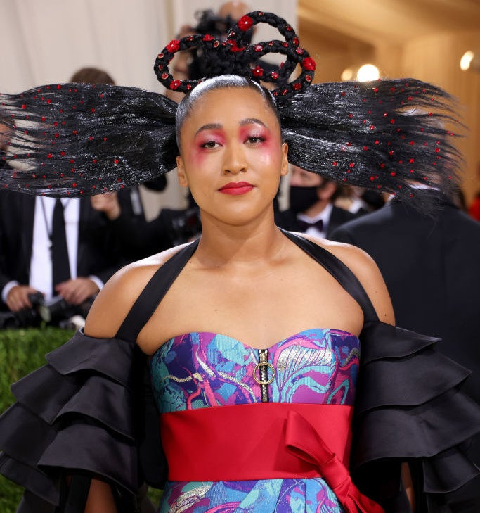 Co-chair Naomi Osaka attends The 2021 Met Gala Celebrating In America: A Lexicon Of Fashion