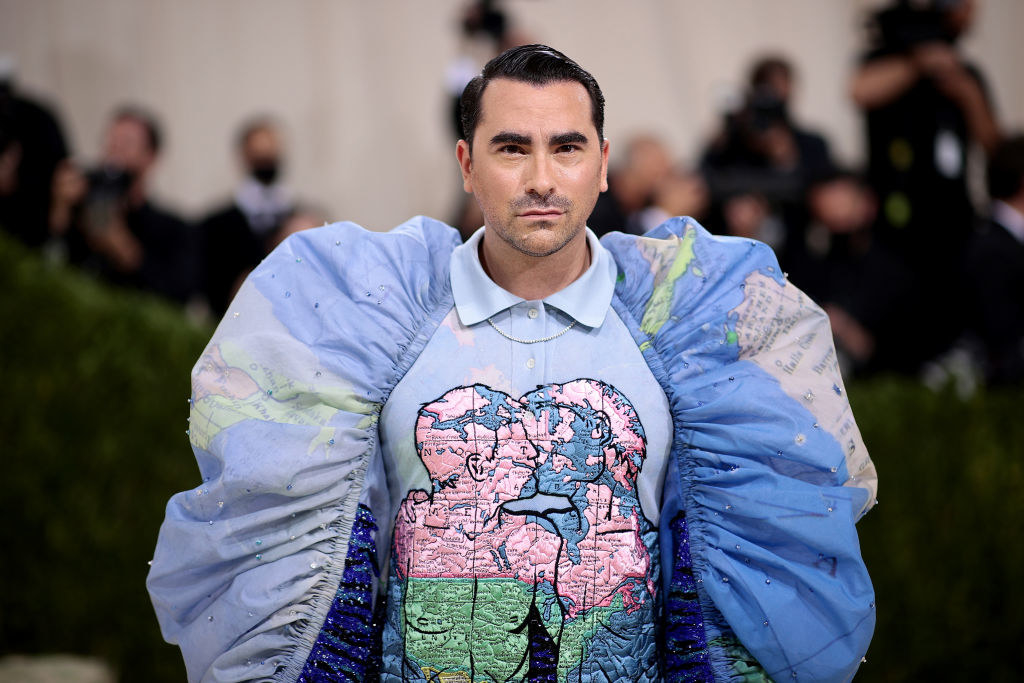Dan Levy attends The 2021 Met Gala Celebrating In America: A Lexicon Of Fashion at Metropolitan Museum