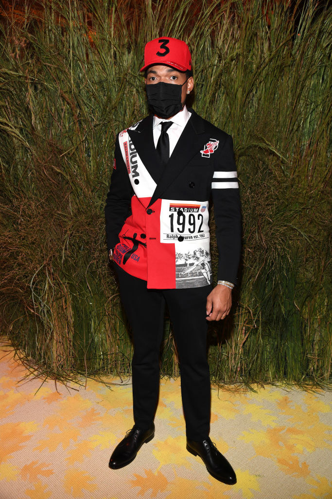 Chance the Rapper attends the The 2021 Met Gala Celebrating In America: A Lexicon Of Fashion