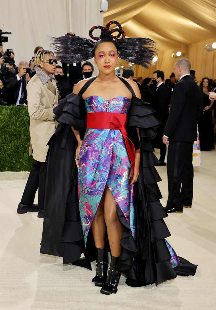 Naomi Osaka attends The 2021 Met Gala Celebrating In America: A Lexicon Of Fashion
