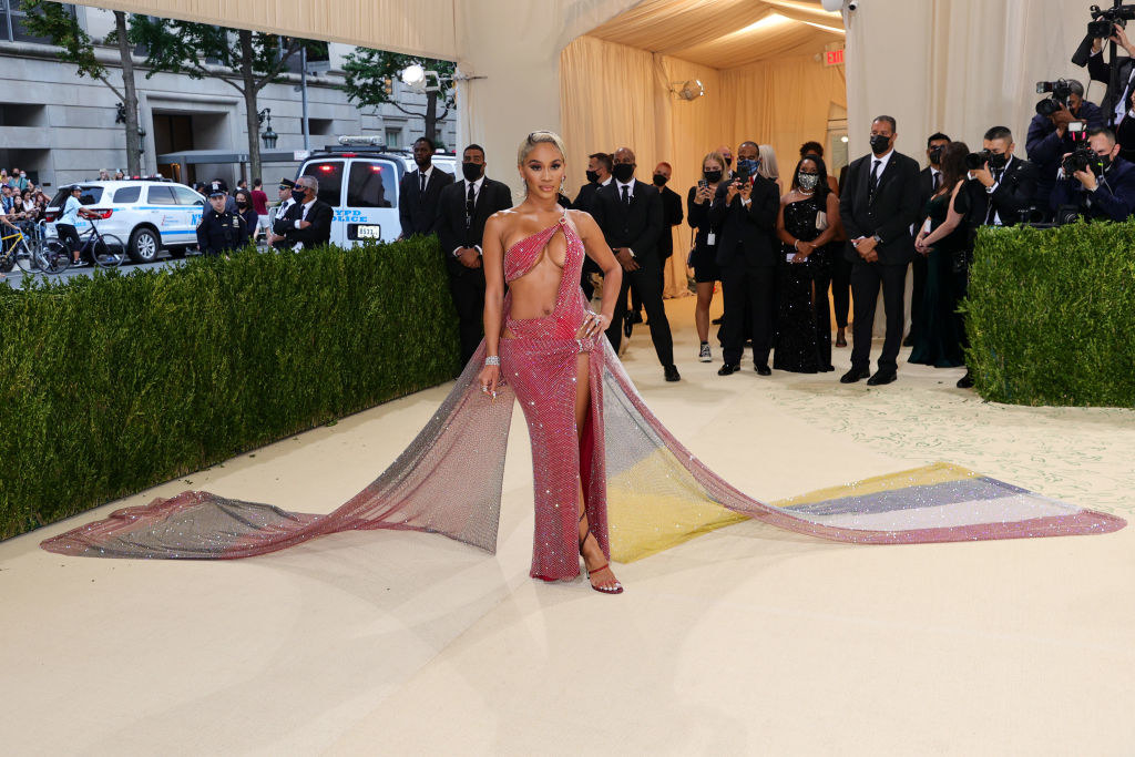 Saweetie attends The 2021 Met Gala Celebrating In America: A Lexicon Of Fashion
