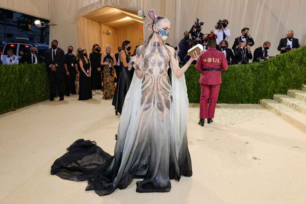 Grimes attends The 2021 Met Gala Celebrating In America: A Lexicon Of Fashion