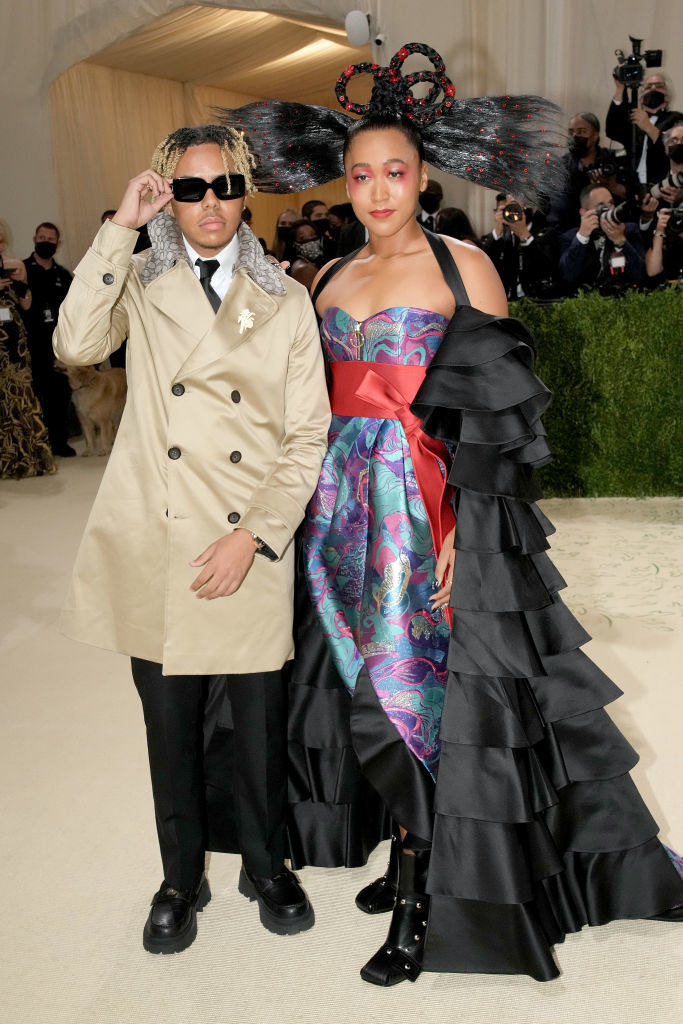 aomi Osaka (R) and Cordae Dunston attend The 2021 Met Gala Celebrating In America: A Lexicon Of Fashion