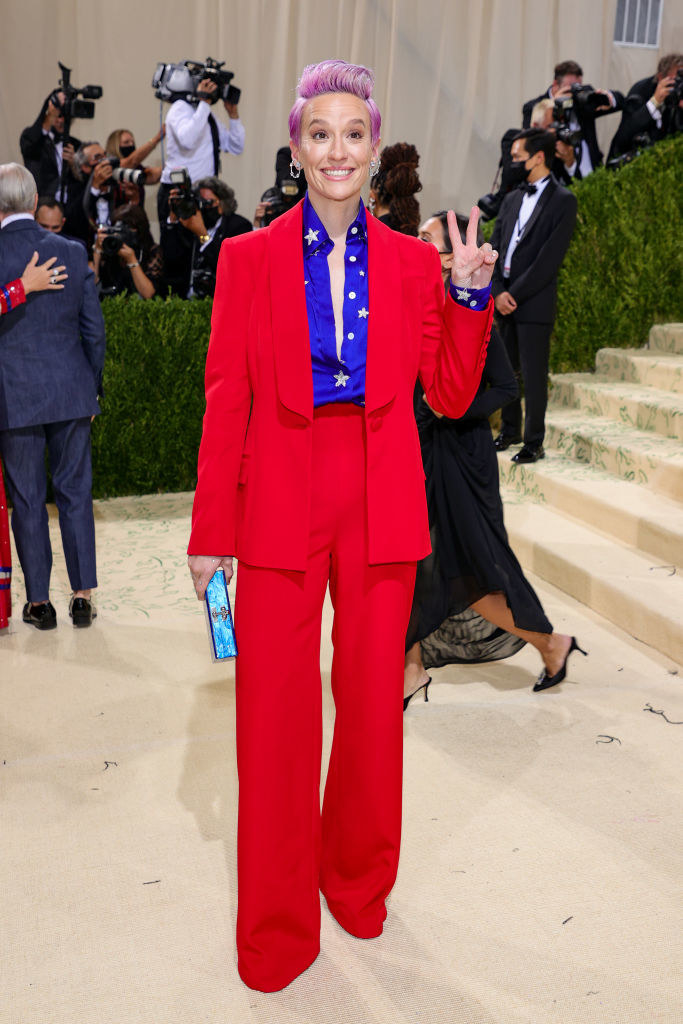 Megan Rapinoe attends The 2021 Met Gala Celebrating In America: A Lexicon Of Fashion