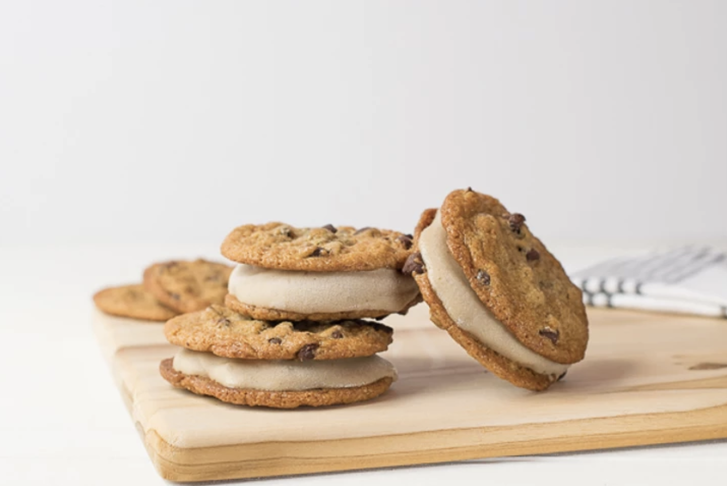 chocolate chip cookies with a layer of filling