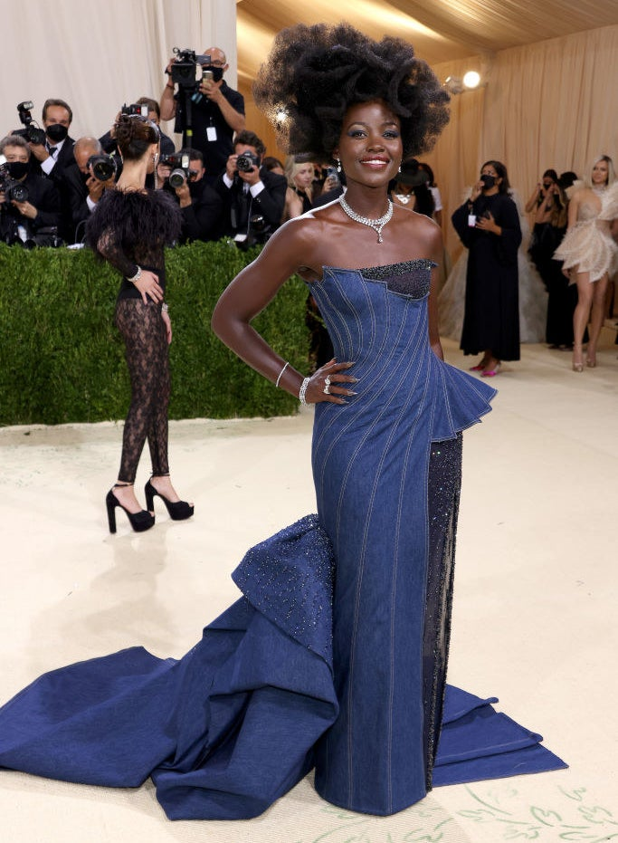 Lupita Nyong'oattends The 2021 Met Gala Celebrating In America: A Lexicon Of Fashion