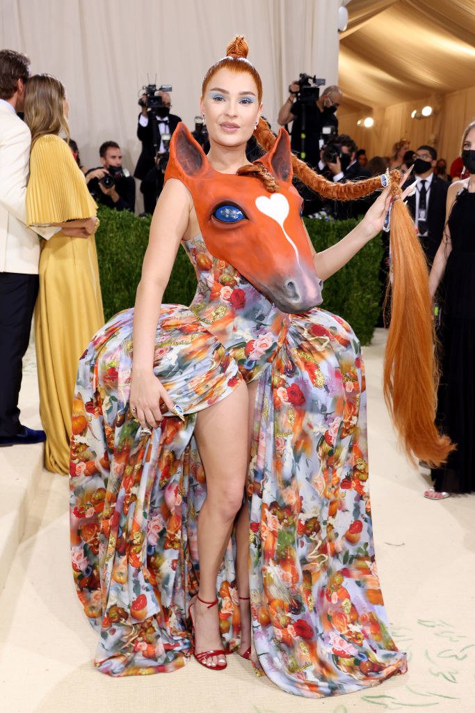 Kim Petras attends The 2021 Met Gala Celebrating In America: A Lexicon Of Fashion