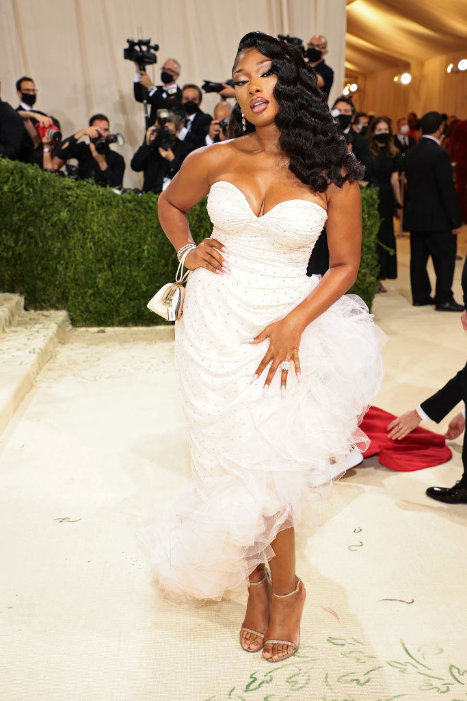 Megan Thee Stallion attends The 2021 Met Gala Celebrating In America: A Lexicon Of Fashion