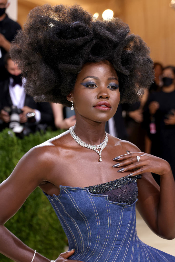 Lupita Nyong'o attends The 2021 Met Gala Celebrating In America: A Lexicon Of Fashion