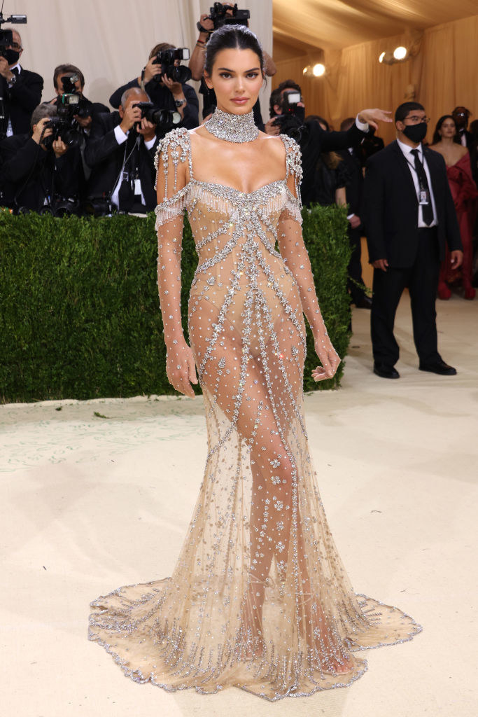 Kendall Jenner attends The 2021 Met Gala Celebrating In America: A Lexicon Of Fashion