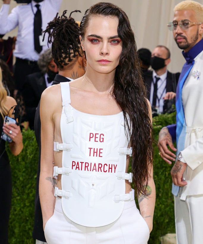 Cara Delevingne attends The 2021 Met Gala Celebrating In America: A Lexicon Of Fashion