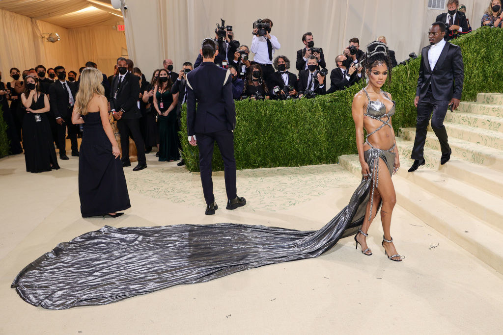 Teyana Taylor attends The 2021 Met Gala Celebrating In America: A Lexicon Of Fashion