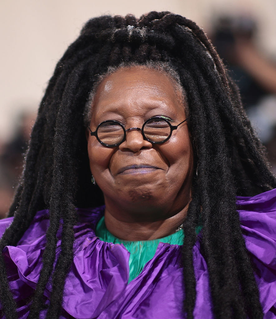 A close up ofWhoopi Goldberg as she smiles